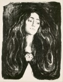 Edvard Munch - The Brooch. Eva Mudocci