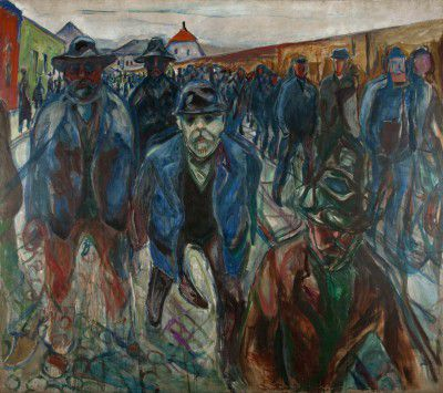 Edvard Munch - Workers on their Way Home