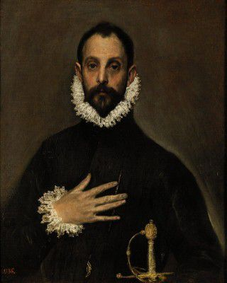 El Greco - The Nobleman with his Hand on his Chest