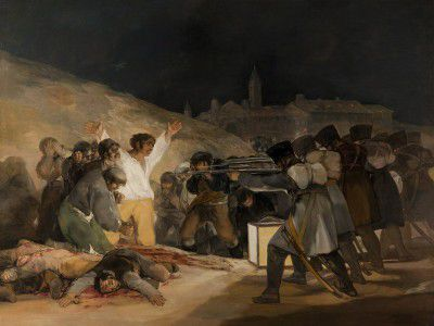Goya y Lucientes, Francisco de - The 3rd of May 1808 in Madrid the executions on Principe Pio Hill