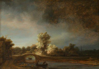 Rembrandt Harmensz van Rijn - The Stone Bridge
