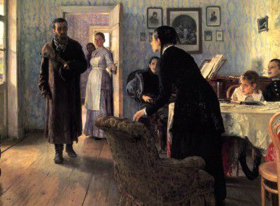 Repin Ilya - unexpected visitors