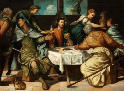 Tintoretto, Jacopo Robusti - The Supper at Emmaus