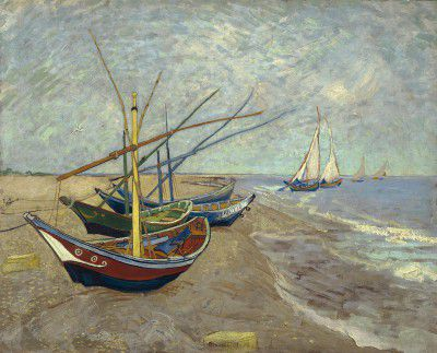 Van Gogh Vincent - Fishing boats on the beach at Les Saintes - Maries de la Mer