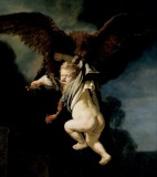 Rembrandt Harmensz van Rijn - The Abduction of Ganymede Porwanie Ganimedesa