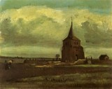 Vincent van Gogh - The Old Nueten's Tower with Peasant, Nuenen