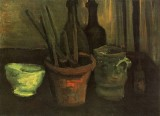 Vincent van Gogh - Still Life with Paintbrushes in a Pot, Nuenen